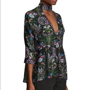 BNWT Neck Band Peplum Blouse!! So cute with jeans!